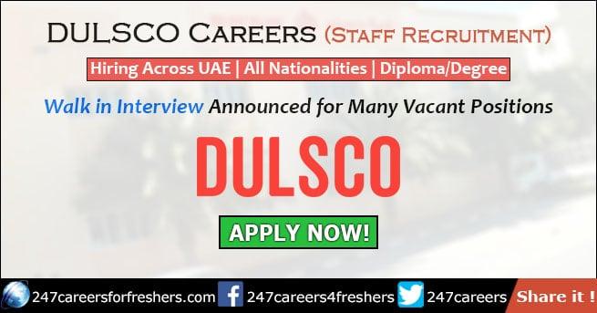 Dulsco Careers
