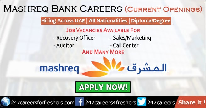 Mashreq Bank Careers